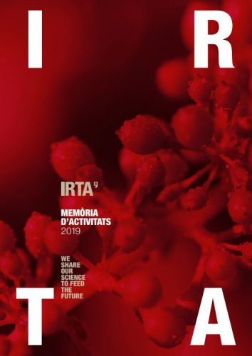 Portada de la Memòria IRTA 2019