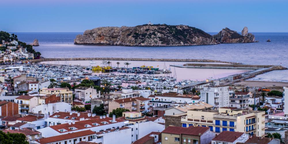 Les illes Medes vistes des de la costa de l'Estartit