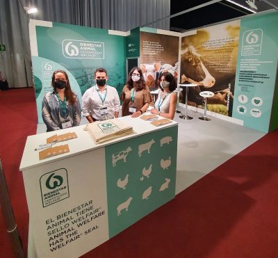 Estand sobre el sello de bienestar animal Welfair en Food 4 Future